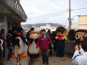 画像 「キャラクターエイド」石巻での活動にラスカルが参加