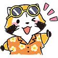 画像 夏向けLINEスタンプ『ラスカルの夏休み♪ホリデースタンプ』配信開始!