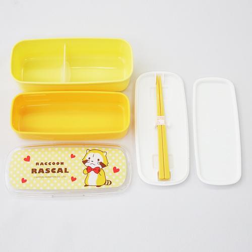 プチラスカル 箸付き2段ランチボックス 商品画像