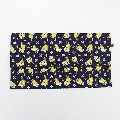 綿さらしティッシュBOXカバー(ラスカル紺) 商品画像