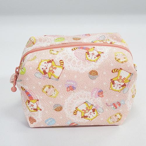 ちりめん・風船ポーチ(ピンク) 商品画像