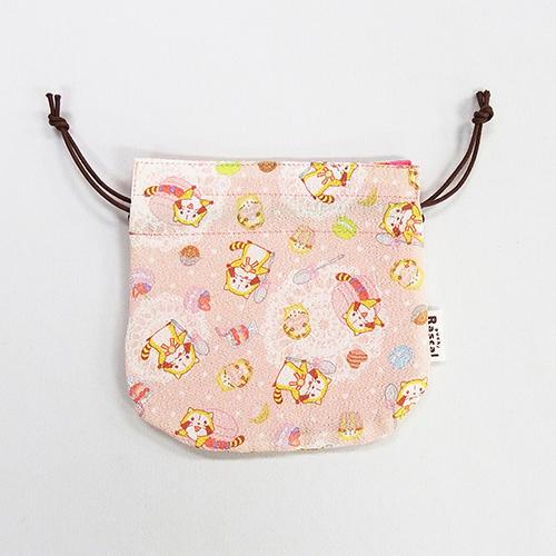 ちりめん・巾着(ピンク) 商品画像