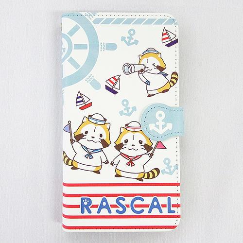 マリンラスカル ブック型スマホケース(チラシ柄) 商品画像