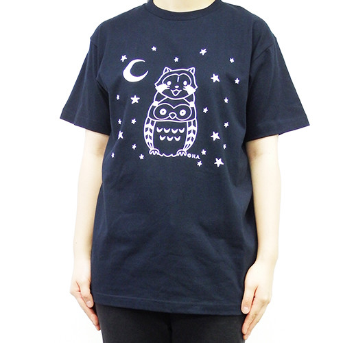 ラスカル&フクロウ Tシャツ(WL/S/M/L) 商品画像