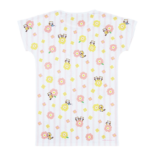 レディースロングTシャツ 花かんむりB 商品画像